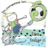 Personalised Five Today Boy Birthday Card PCK10