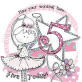 Personalised Five Today Girl Birthday Card PCK20