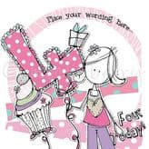 Personalised Four Today Girl Birthday Card PCK19