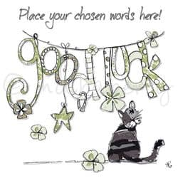 Personalised Good Luck Cards | Good Luck Greeting Card | Good Luck