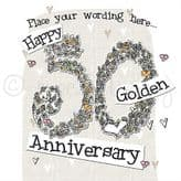 Personalised Happy Golden Anniversary Card PLC38