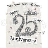 Personalised Happy Silver Anniversary Card PLC35