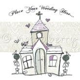 Personalised Just Married Church Card PJMM01