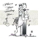 Personalised Just Married Couple Card PJMM04