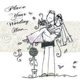 Personalised Just Married Couple Card PJMM06