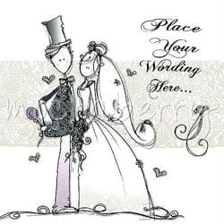 Personalised Wedding Card   Personalised Cards   Wedding Day Cards