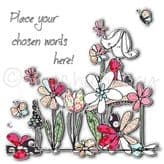 Personalised Lady In A Flower Garden Card PC48