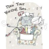 Personalised Lady In An Armchair Card PLC22