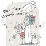 Personalised Lady With Little Girl Card PLC17