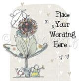 Personalised Lady With Sunflower Card PLC02
