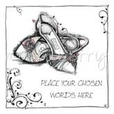 Personalised Pair Of Shoes Card PC116