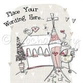 Personalised Pink Church Christening Card PLC28