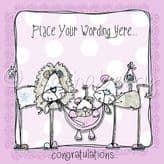Personalised Pink Lion Family Card PLM06