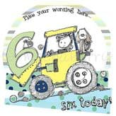 Personalised Six Today Boy Birthday Card PCK11