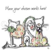 Personalised Two Cats And A Mouse Card PC54