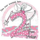 Personalised Two Today Girl Birthday Card PCK17