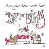 Personalised Wife Happy Birthday Card PC67