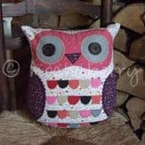 Purple Owl Cushion