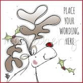 Rudolph Personalised Christmas Card PX06