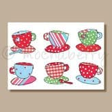 Six Cups - greeting card