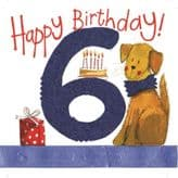 Six For A Boy 6th Birthday Card - Alex Clark S137