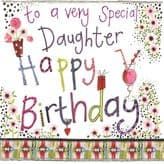 Special Daughter Birthday Card - Alex Clark S176