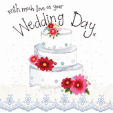 Three Tier Wedding Cake Card - Alex Clark S298