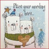 Two Bears Personalised Christmas Card PCS13