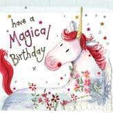 Unicorn Magical Birthday Card - Alex Clark S321