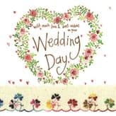 Wedding Day Heart Card - Alex Clark S143