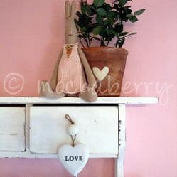 White 'LOVE' Wooden Heart | Hearts | Hanging Wooden Heart Decoration