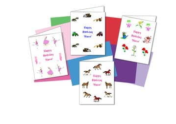 Birthday Cards with Borders