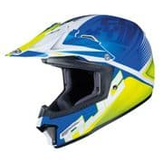 HJC CS-MX II MX Helmet Ellusion Blue