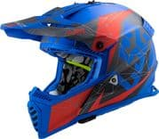 LS2 MX437 Fast Evo Alpha Matt Blue/Red