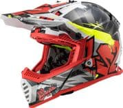 LS2 MX437 Fast Evo Crusher Black/Red