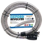 Oxford Revolver Cable lock 1.4m Silver OF231