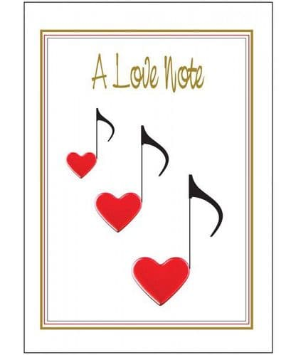 """A Love Note"" Music Greeting Card by MGC"