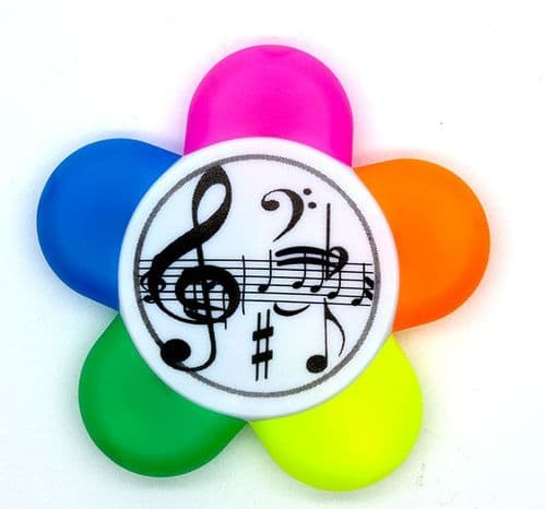 5 Colour Treble Clef Highlighter