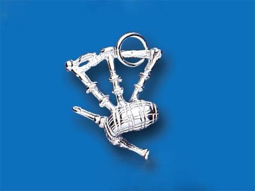 Bagpipe Sterling Silver Charm
