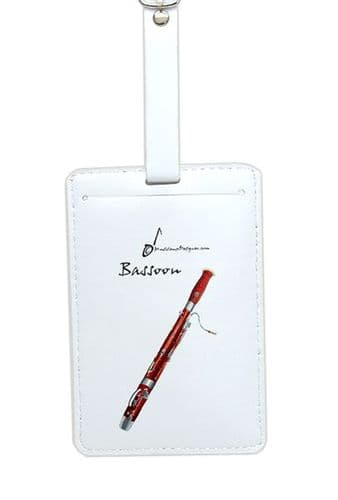 Bassoon Luggage Label by MD