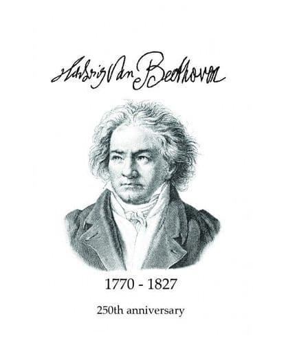 Beethoven 250th Anniversary Greetings Card by MGC
