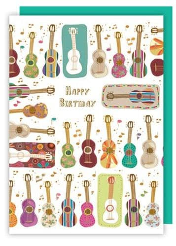 Birthday Card - Acoustic & Classical Guitars by Quire