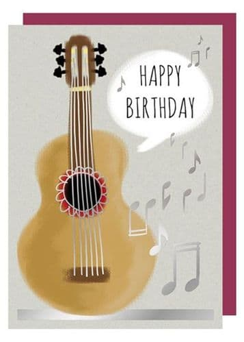 Birthday Card - Acoustic Guitar by Quire
