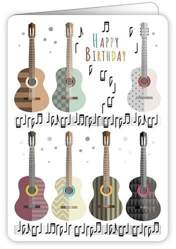 Birthday Card - Acoustic Guitars by Quire