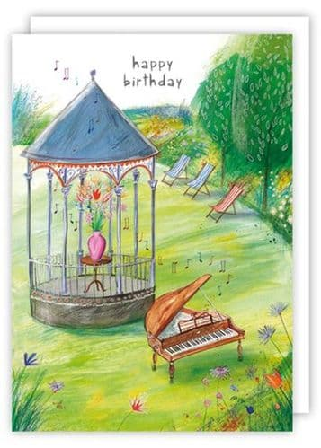 Birthday Card - Bandstand & Piano by Quire