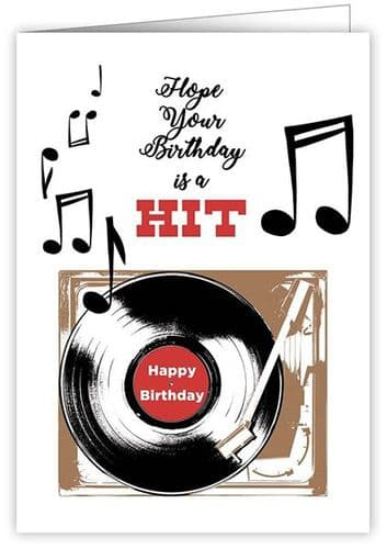 Birthday Card - Birthday Hit by Quire