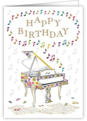 Birthday Card - Grand Piano by Quire