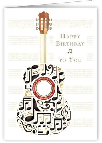 Birthday Card - Guitars Notes by Quire