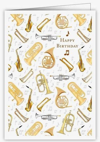 Birthday Card - Musical Instruments 3 by Quire