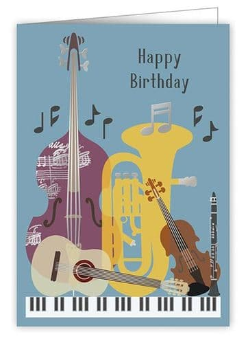 Birthday Card - Musical Instruments 5 by Quire